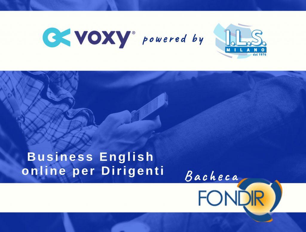 Inglese online per Dirigenti su Bacheca Fondir Voxy corso inglese app formazione finanziata ils milano