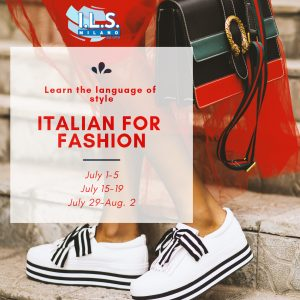 Italian for fashion intensive course ils milano
