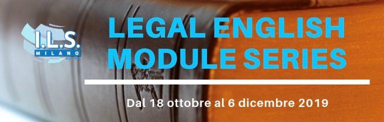 Legal English Module Series inglese giuridico a Milano ils milano ordine degli avvocati crediti formativi