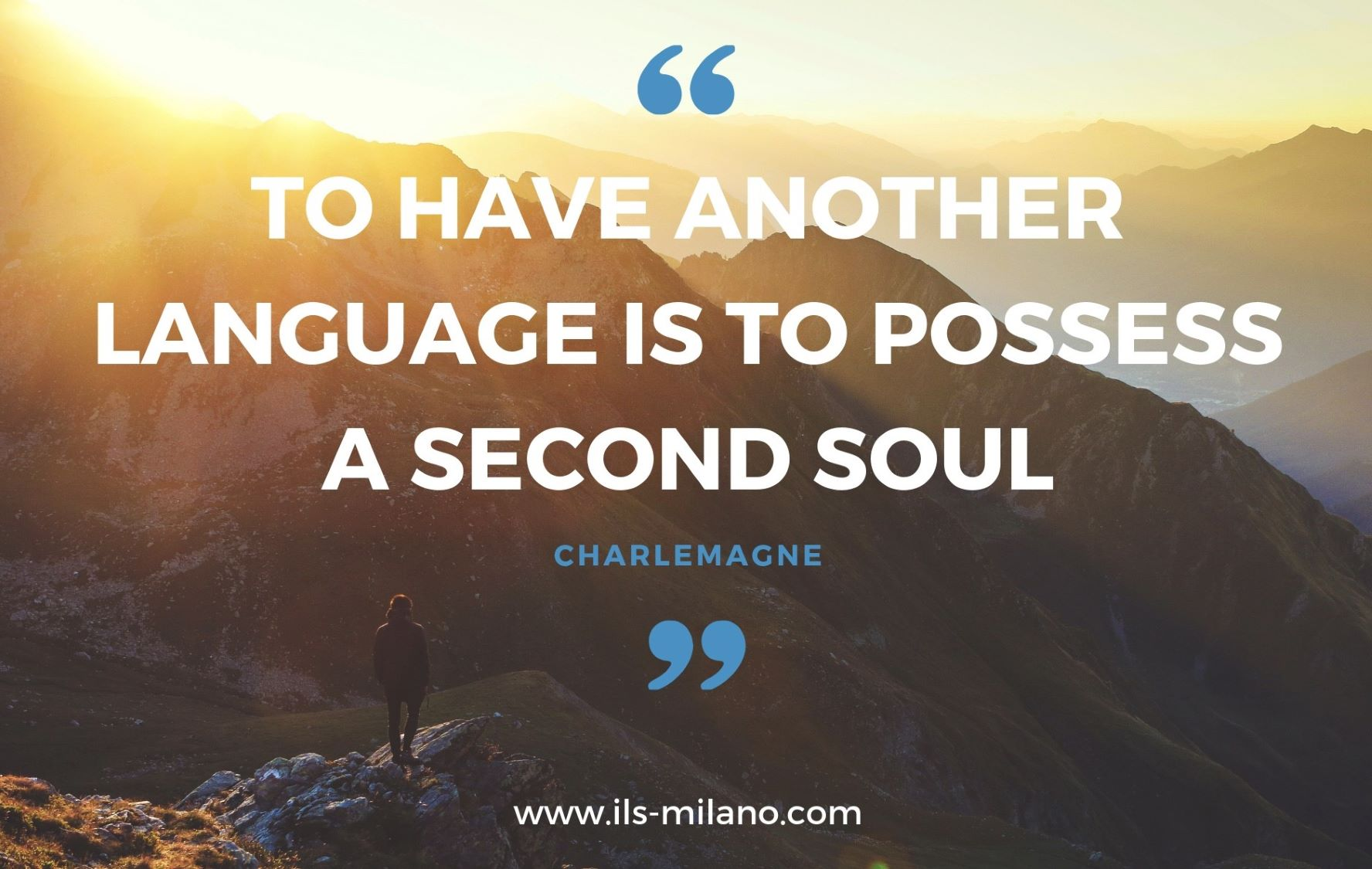 To have another language is to possess a second soul charlemagne ils milano motivation for language learning ils milano language school milan italy