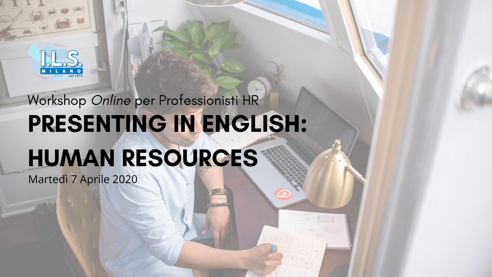Workshop Online per Professionisti HR workshop hr online ils international language school milano
